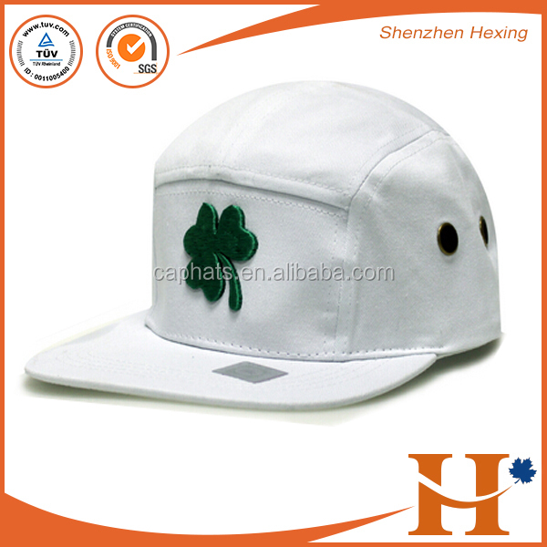 2017 high quality fashion blank baby trucker hat customized 5 panel white leather hat