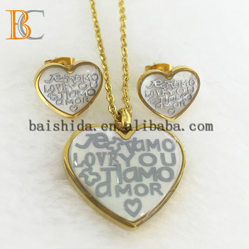 Factory Wholesale Gold Plated Stainless Steel Jewelry Sets