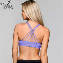Custom Private Label Fitness <span class=keywords><strong>Ondergoed</strong></span> Gewatteerde Sexy Strappy Sportbeha voor Vrouwen