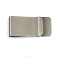 High quality professional factory custom blank stainless steel material logo money clip