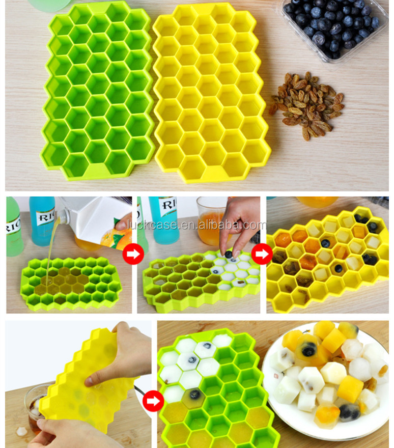 China wholesale online silicon baby food freezer tray, novelty honeycomb design ice cream moulds, newest popsicle mold