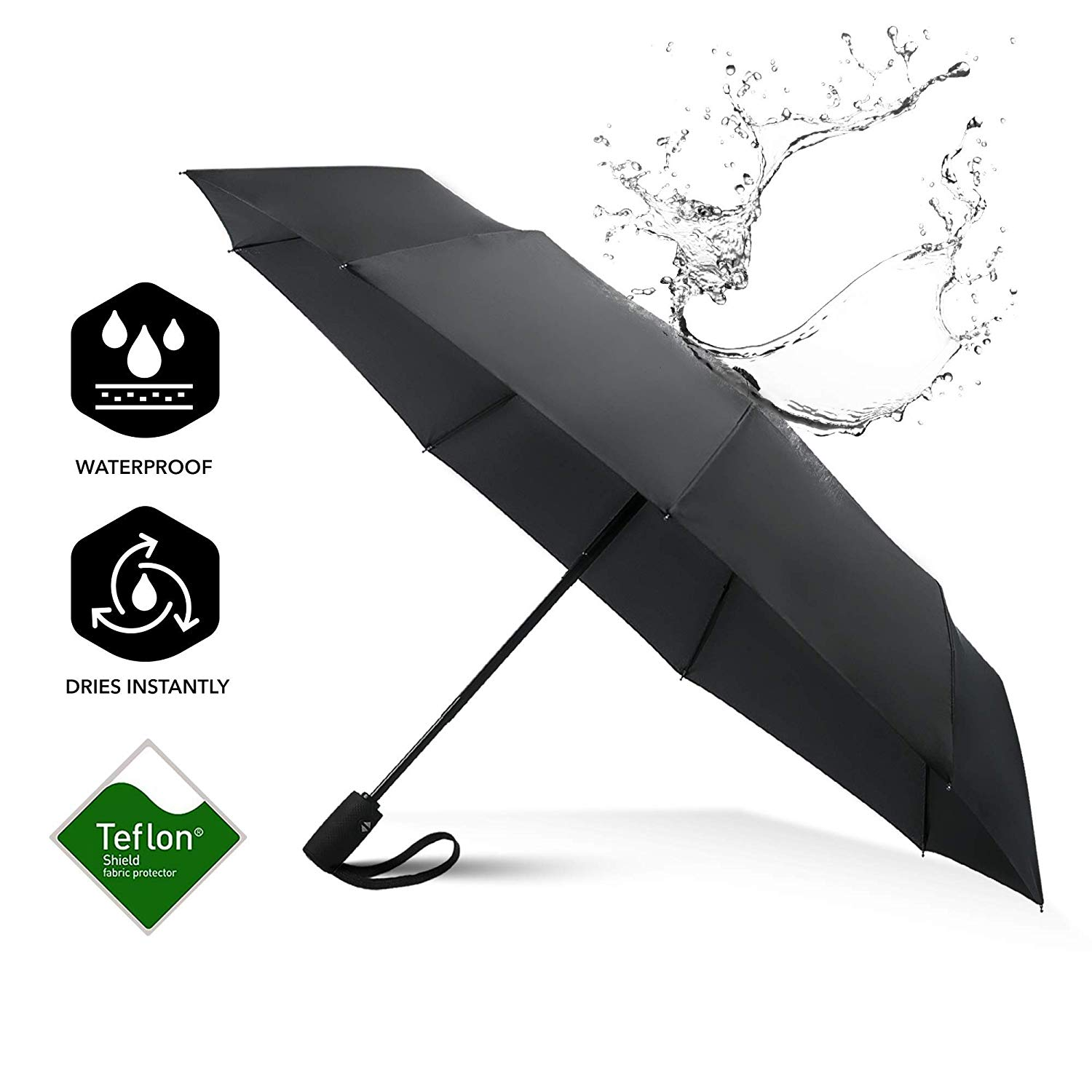 2019 New Invention 21inch*8k Led Lamp 3 Fold Umbrella With Auto Open And Close