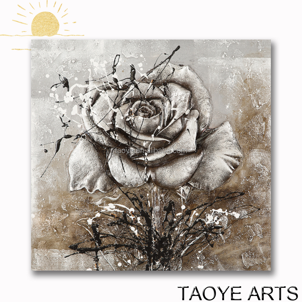 3D rose canvas oil painting for wholesale