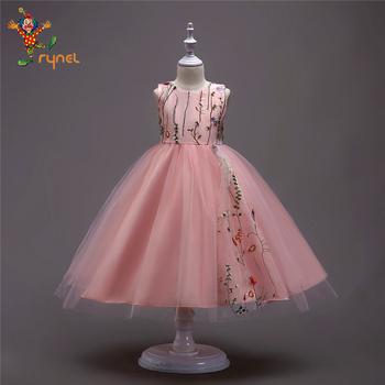 Pgcc5349 Wholesale 2018 Wedding Children Kids Girl Party Frock Designs 5 Colors Lace Fancy Dress Buy Fancy Dress Party Frock Dress Kids Frock