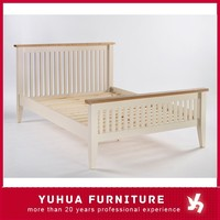 Solid Painted Pine&Ash Double Bed Bedroom Furniture