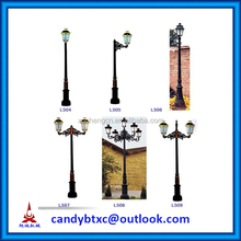 3.2m Decorative street lamp pole /cast iron garden light pole/antique lamp pole