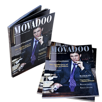 printing Manufacture competitive price hot sell silver hot foil stamping soft cover car magazine printing