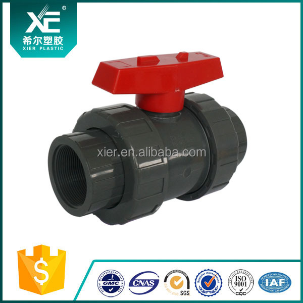 Socket and Thread SCH80 Plastic Material UPVC True Union Valve
