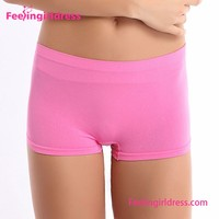 Women's BoyLeg Briefs Pink Sport Cheap Ladies Underwear