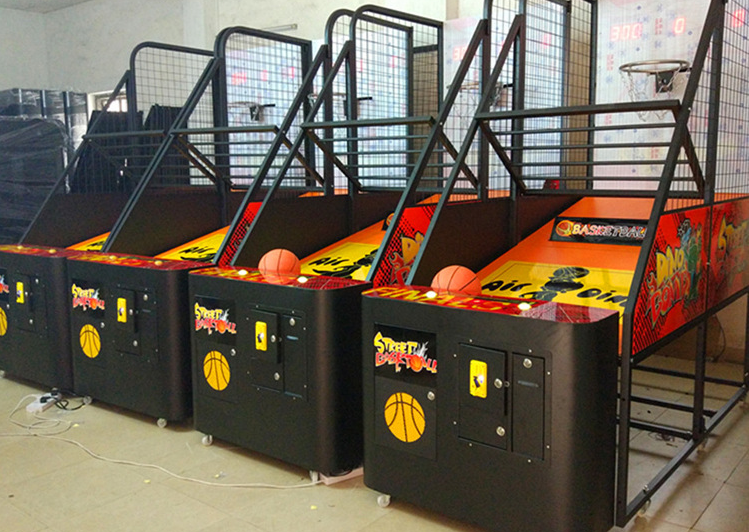 Amusmement Theme Park Playgrounds Indoor Coin Operated Street Basketball Games Machine