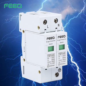 Hot sell top quality Signal Control Surge Arrestor 3P+N 40kA 100kA Surge Protections Surge Protectors with remote signal