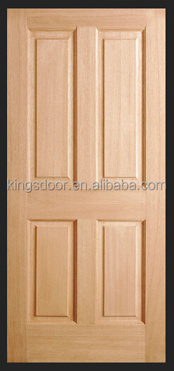 China popular 4 panel interior puerta de madera maciza de for Puertas de madera para habitaciones
