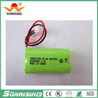 Accept OEM Ni-MH AAA 2.4V 800mAH rechargeable battery pack cordless phone battery