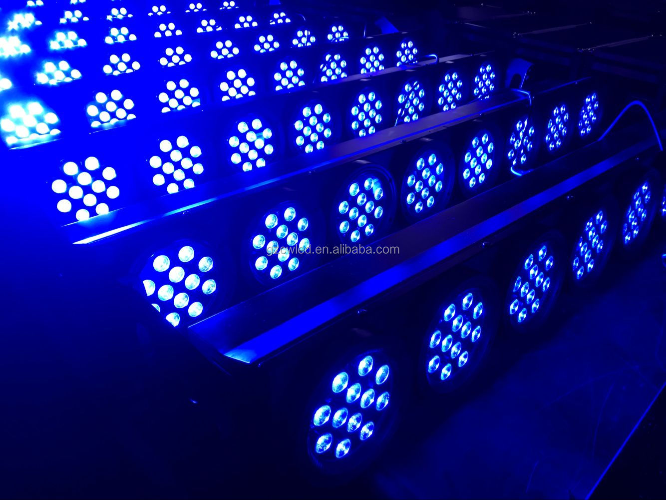 Indoor wash light professional 96pcs*3w 3 in 1 rgb dmx control led wash light