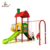 Colorful Outdoor Kid Plastic Slide Set With Swing,Kids Amusement Slide For Sale