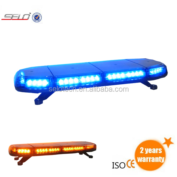 DC12V/DC24V Amber/red/blue/white warning mini lightbar ECE&R65 for emergency and vehicle