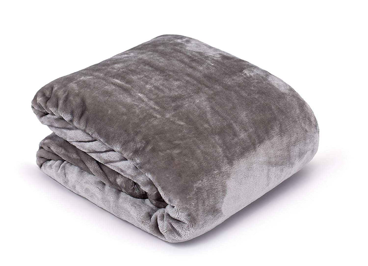 Internet's Best Plush Velvet Mink Throw Blanket | Gray | Thick Ultra Soft Couch Blanket | Warm Sofa Throw | 100% Microfiber Polyester | Easy Travel | Twin Bed | 66 x 90