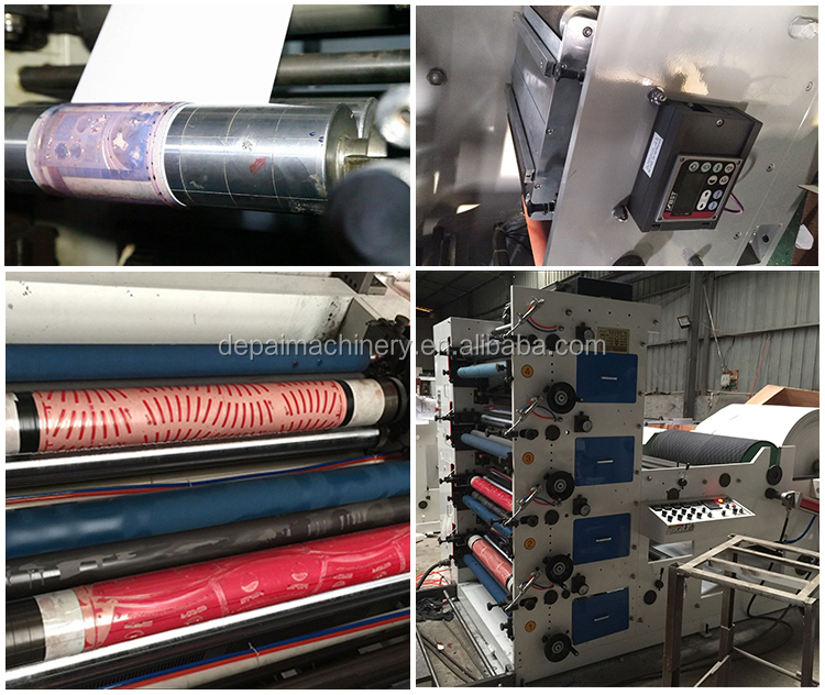 Automatic Four Colors Paper Cup Flexo Printing Machinery