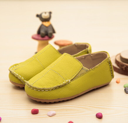 Hot sale children shoes boys new style leather shoes kids comfortable single shoes boys breathable casual