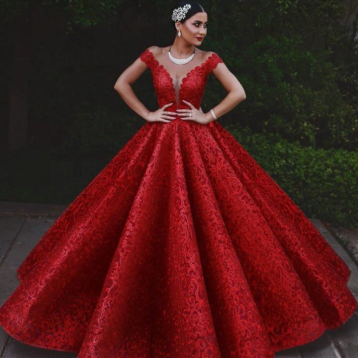 e1e7356ded6a Venta al por mayor rojo de encaje vestido de fiesta-Compre online ...