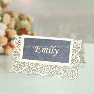 PC1301-04 Paper craft wedding table decorations table place name card number card seat cards