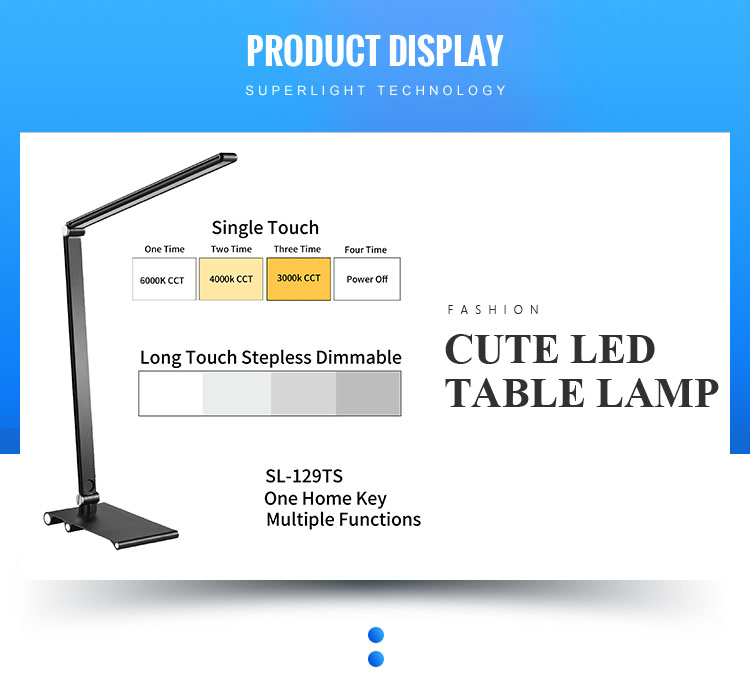 Factory dimmable 5W new led chinese simple table book lamp