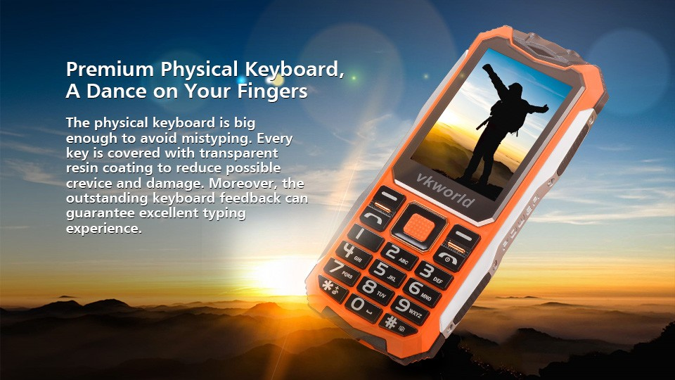 VKWORLD Supplier-vkworld Stone V3S 2.4inch Screen Dual LED Dual SIM GSM 2G Rugged Mobile Phone