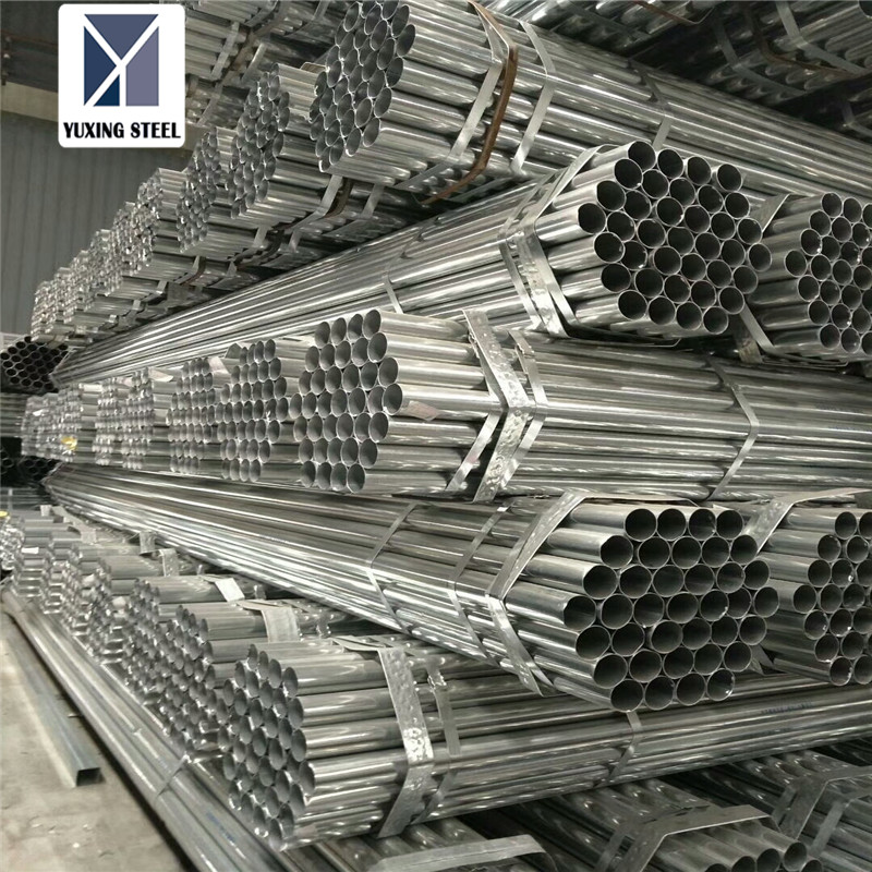 Hot Dipped Galvanized Steel Pip ms round pipe weight chart