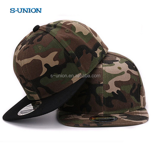 S-UNION high quality camouflage outdoor sports caps plain hip hop hat gorro flat brim 6-panels camo snapback cap and hat