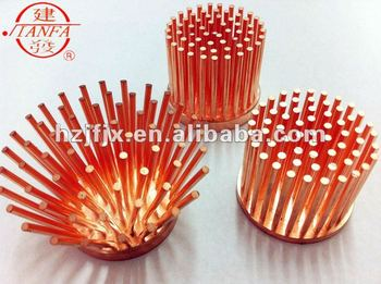 Extruded Copper Led Heat Sink Heat Dissipator View Copper