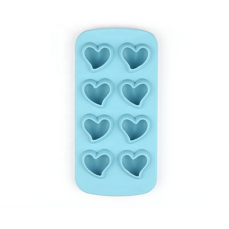 8 holtes Hart Shaped Silicone Ice Cube Tray Silicone Ice Mold Candy Maken Mold Chocolade bakvorm