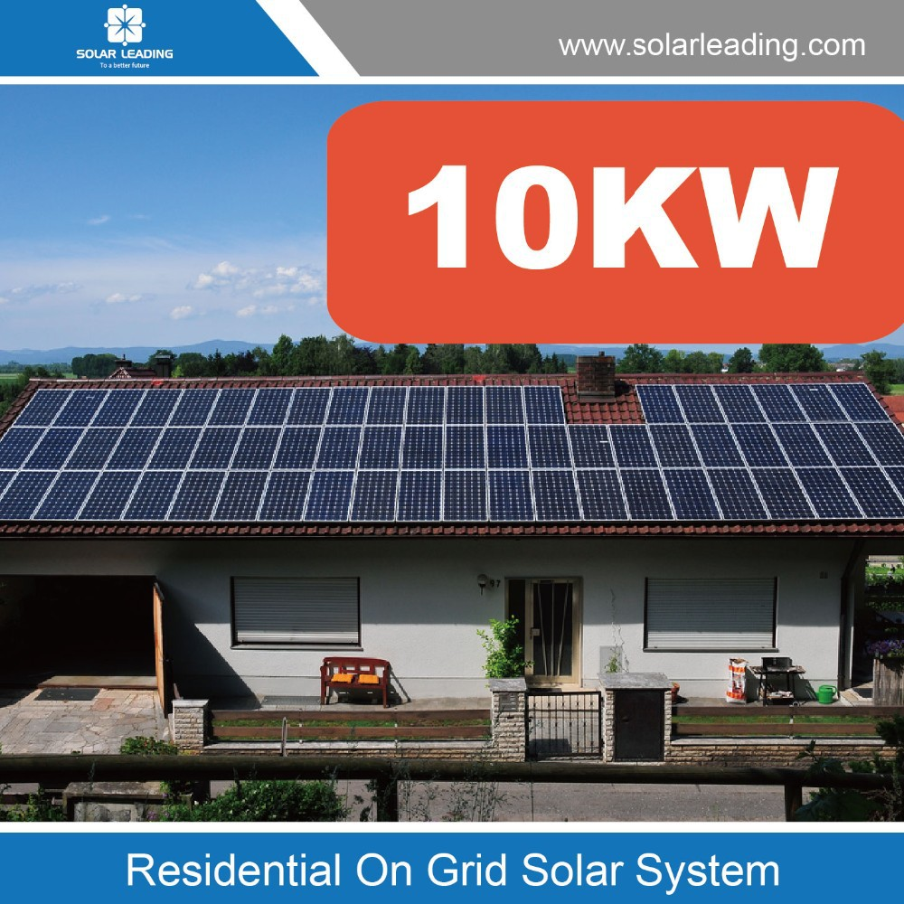 On Grid solar power system 10KW for home, solar grid tied roof top system, ground mounting solar system