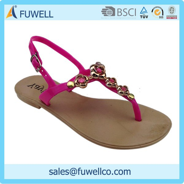 Beaded fashion leisure beach women sandals flip flop