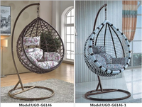 best price poly rattan swinging chairs hot selling