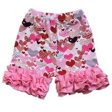 Шелковые шорты с рюшами для девочек, Марди Гра, Пасха, день Святого Валентина, День Святого Патрика, праздники, весенние цвета, одежда, шорты(Китай)