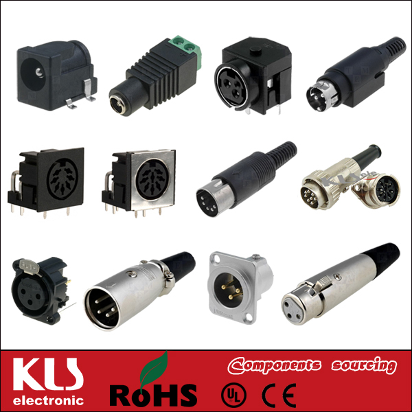 Good quality adapter DC output connectors UL CE ROHS 250 KLS
