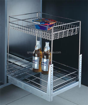 Metal Kitchen Cabinet Slide Out Wire Baskets For Kitchen Sinks/kitchen Pull  Out Shelves( 900.400.400 ) - Buy Wire Baskets For Kitchen Sinks,Kitchen ...