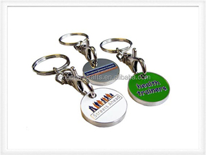 Promotion VertexPaint logo metal trolley coin holder