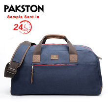2018 china manufacturer leisure travel mens wax canvas leather duffle bag