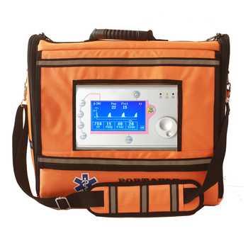 Portable emergency transport volume ambulance ventilator with cpap