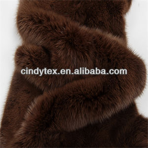 9mm pilha curto real mink fur trimming