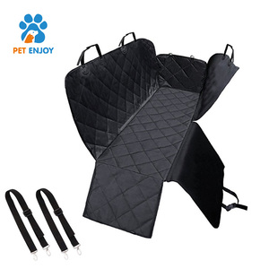 Adjustable Nylon Strap Car Dog Waterproof Seat Cover Dogs Pets Car Back Seat Protector Hammock Seat Cover with Zipper