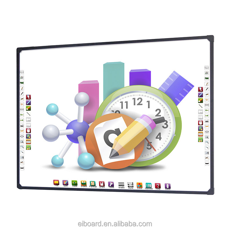 Multi-touch wall mounted electronic whiteboard for students