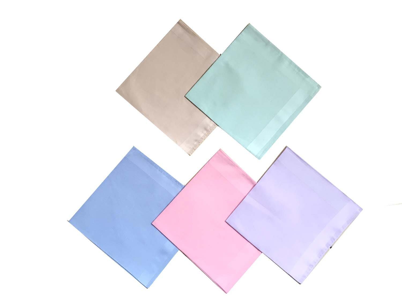 By Tech Pk 5 Cotton Light Color Handkerchief
