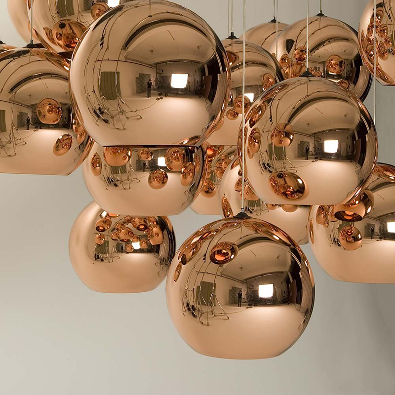 modern christmas replica designer copper shade glass pendant <strong>light</strong>