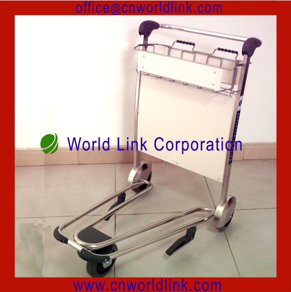 Protabe 3 Wheels Airport Traveller Buggage Trolley With Brake