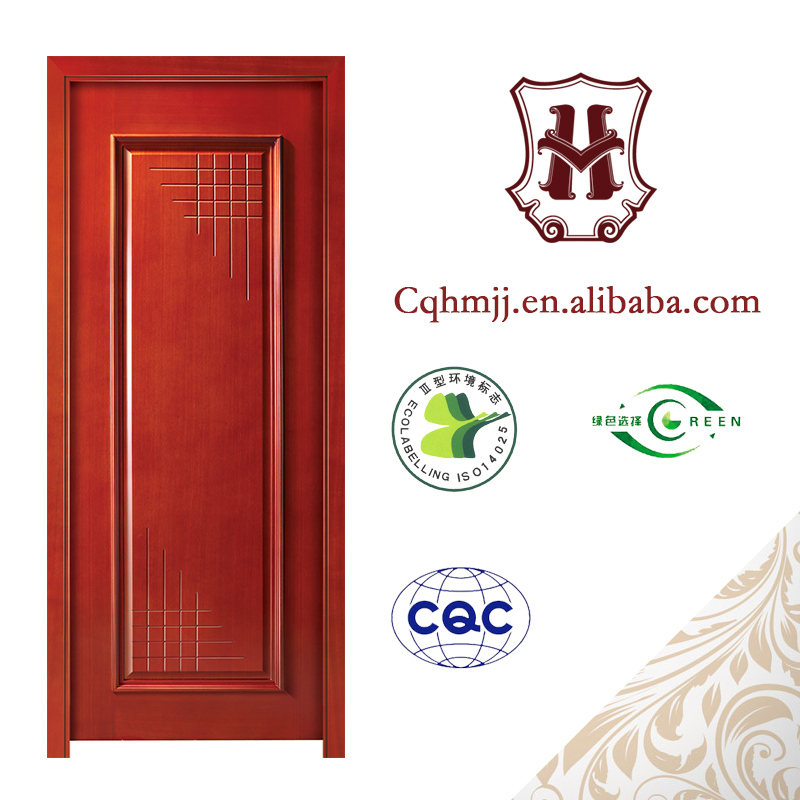 Line pressing series sound insulation contracted style wooden door