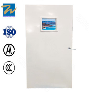 30/60/90 mins Interior Position Single Panel Steel Fire Door with Vision Panel