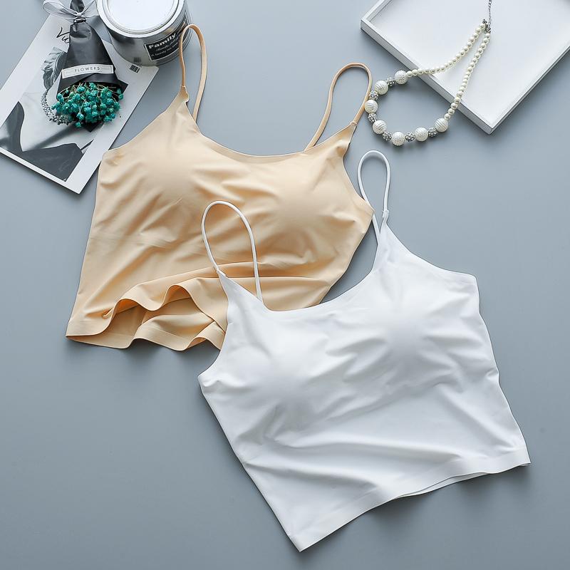 2018 wholesale pure color sweet comfortable slim model ladies tank tops