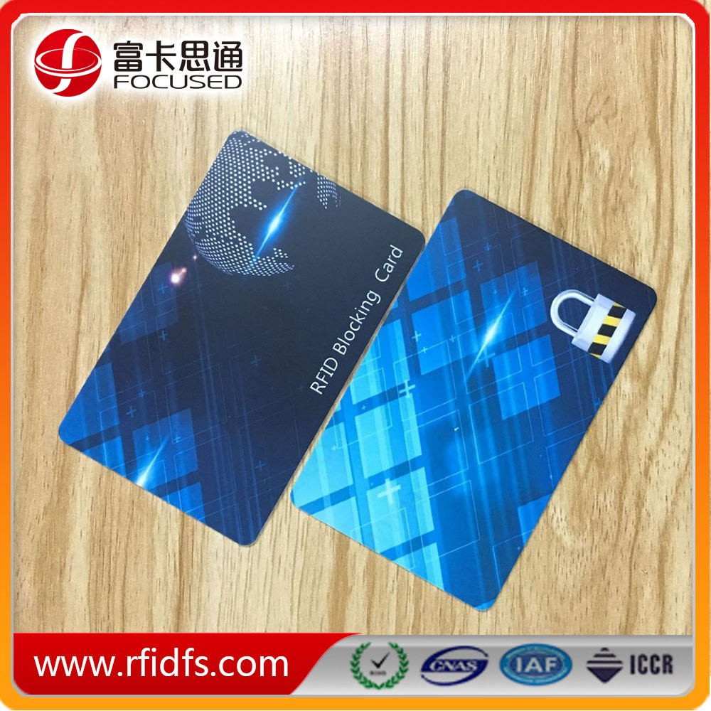 4 Colors Printing Anti Electronic Theft RFID Blocking Card